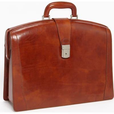 Bosca Triple Compartment Leather Briefcase -