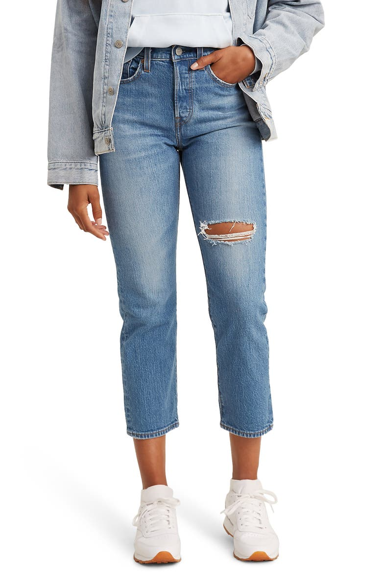LEVI'S<SUP>®</SUP> Wedgie High Waist Straight Leg Ankle Jeans, Main, color, JIVE TONE
