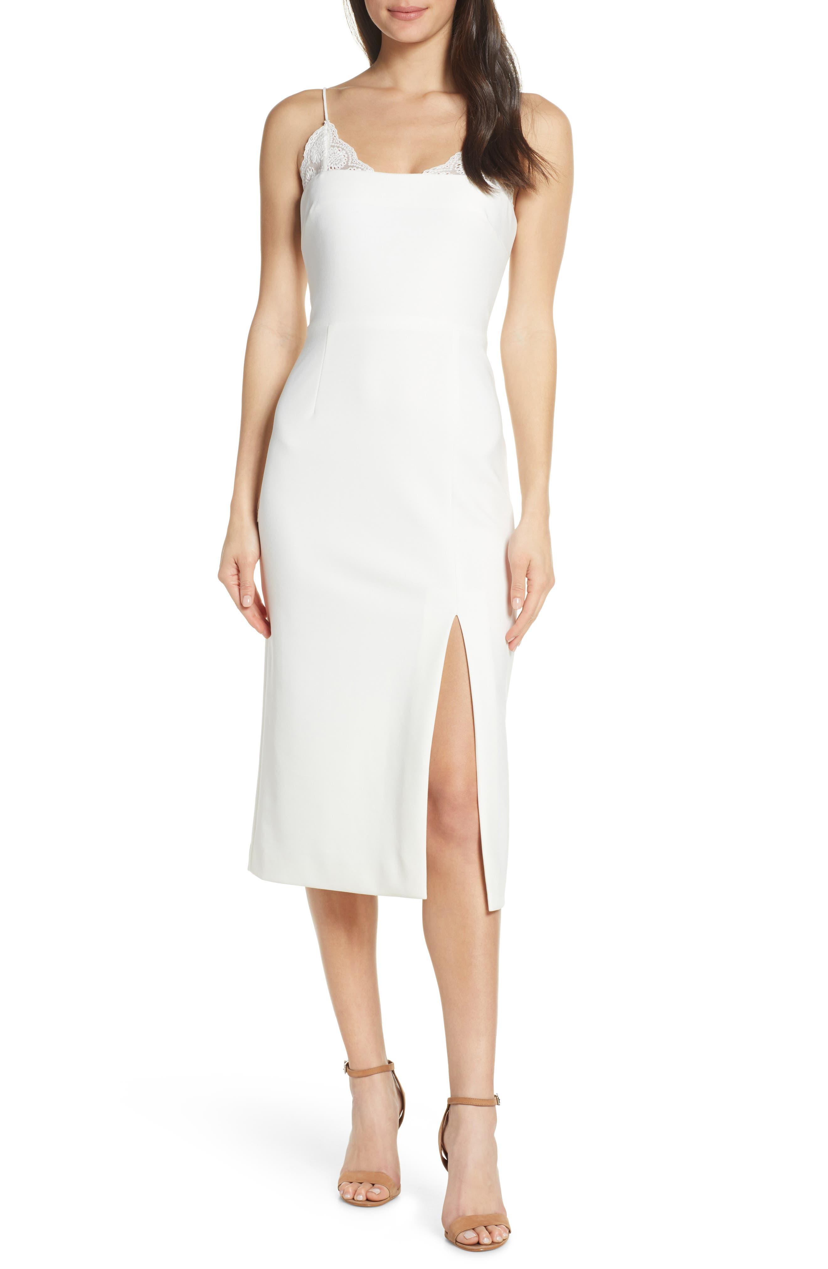 Finders Keepers Kobie Midi Dress, Ivory