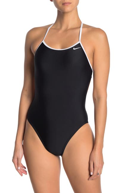 Image of Nike Tie Back Cutout One-Piece Swimsuit