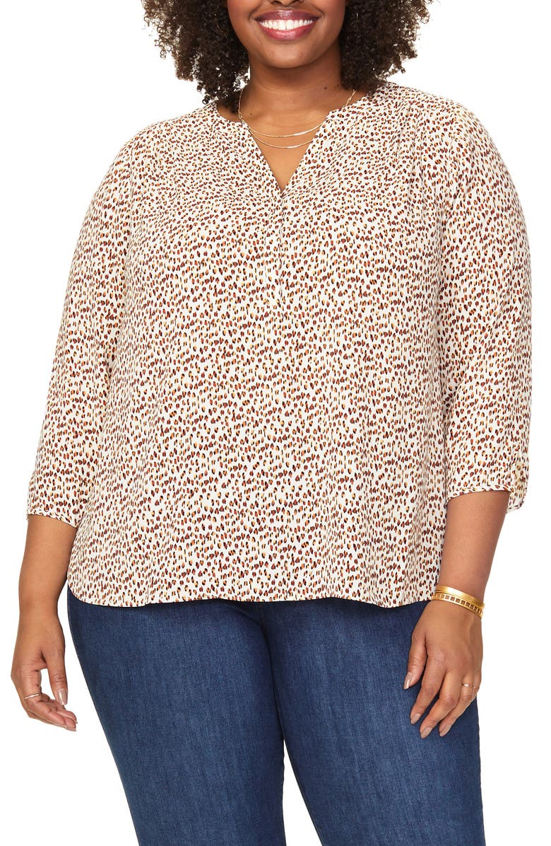 CURVES 360 BY NYDJ Perfect Blouse, Main, color, BOBCAT