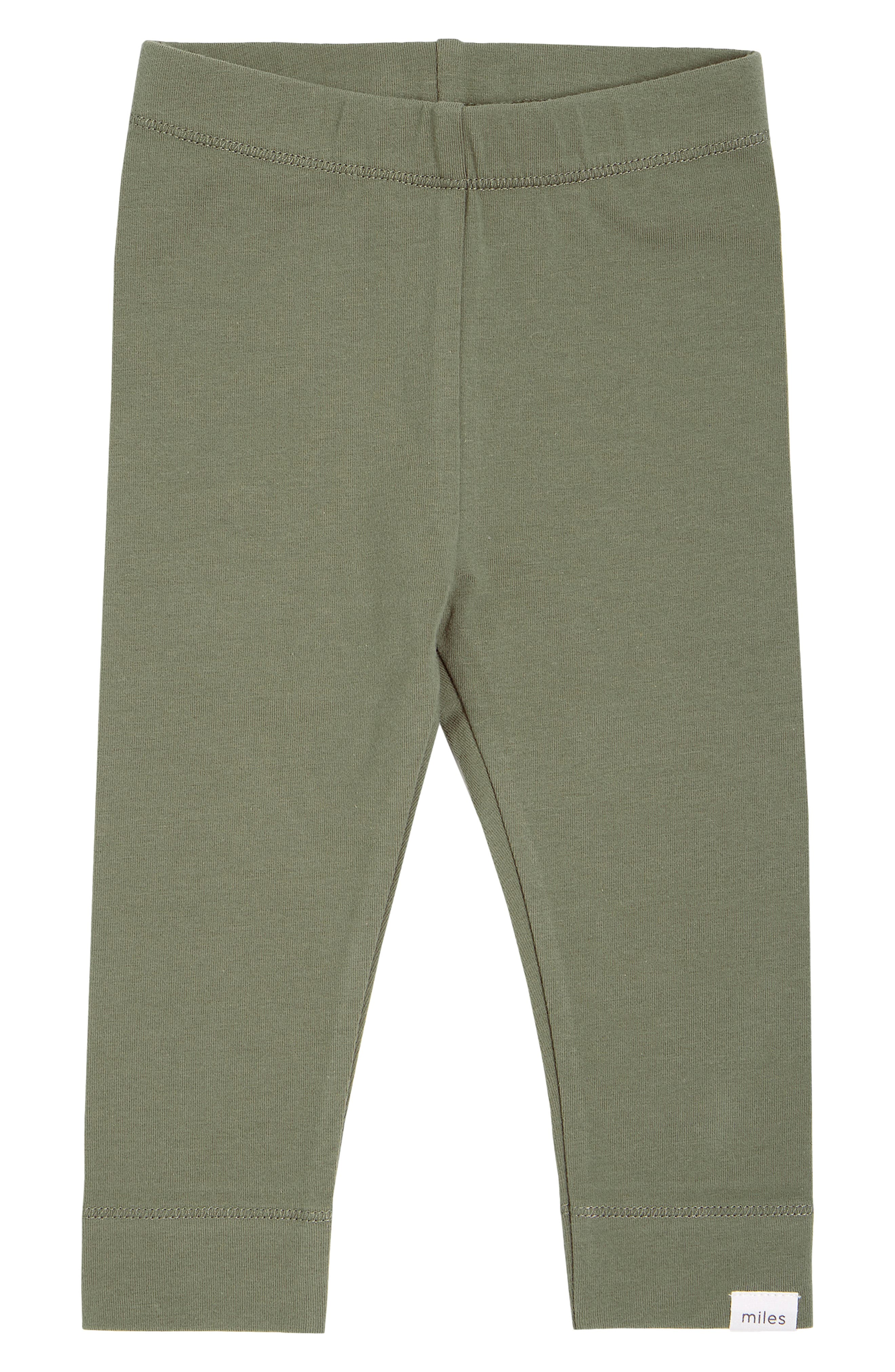 These everyday leggings cut from soft and stretchy organic cotton span the seasons in a cool sage hue. Style Name: Miles Knit Leggings (Baby). Style Number: 6087369. Available in stores.