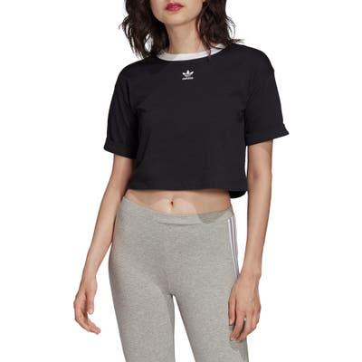 Adidas Originals Ringer Crop Top, Black