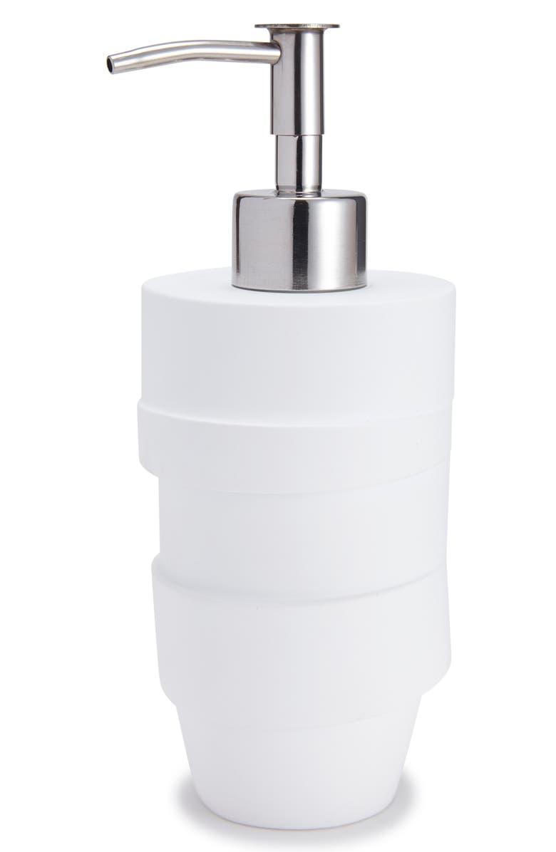 KASSATEX Alpine Lotion Dispenser, Main, color, WHITE