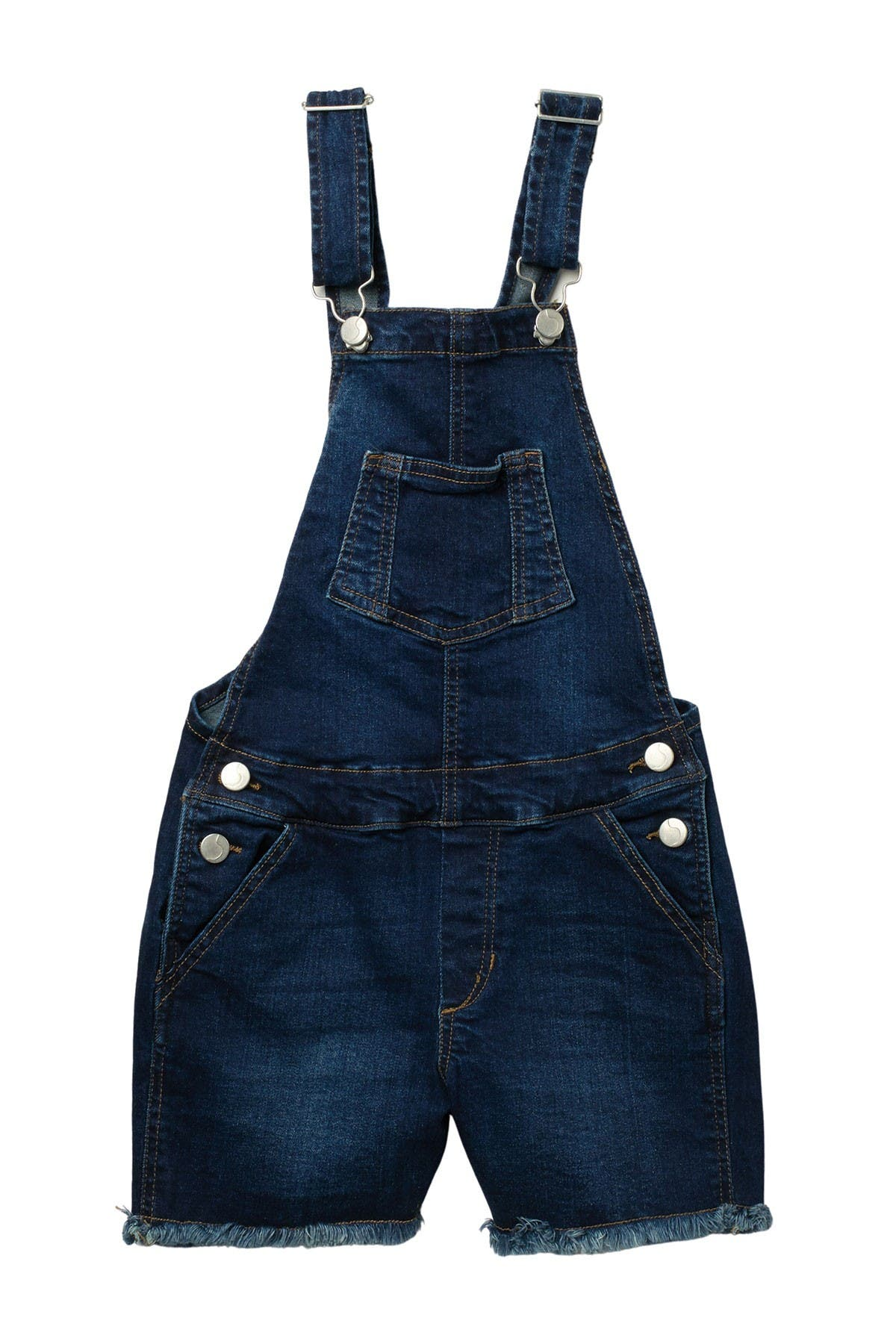 Image of Joe's Jeans Selma Cutoff Denim Overalls