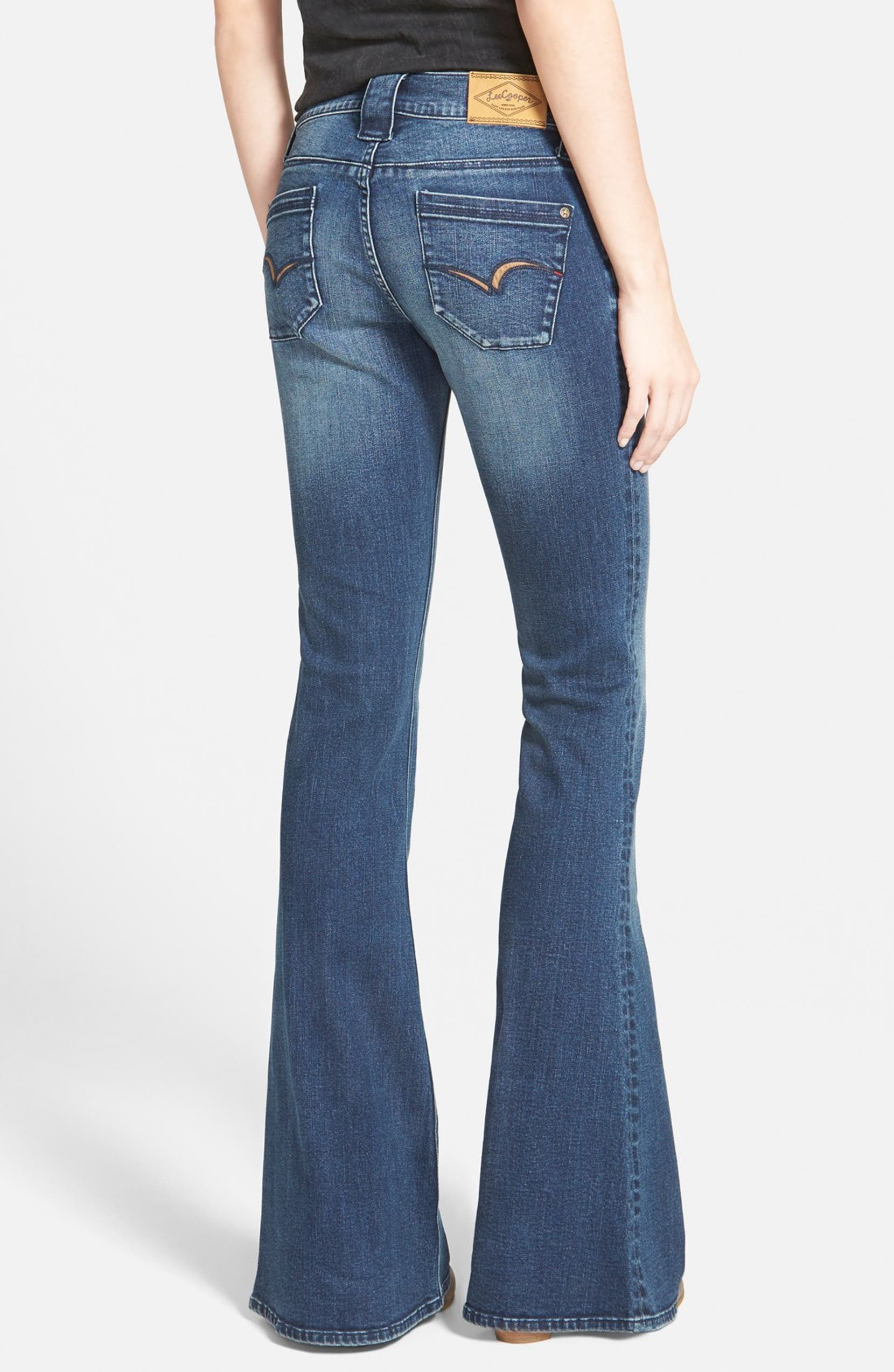 the sale of shoes hot-selling cheap real deal Lee Cooper 'Layla' Flare Jeans (Blue) | Nordstrom