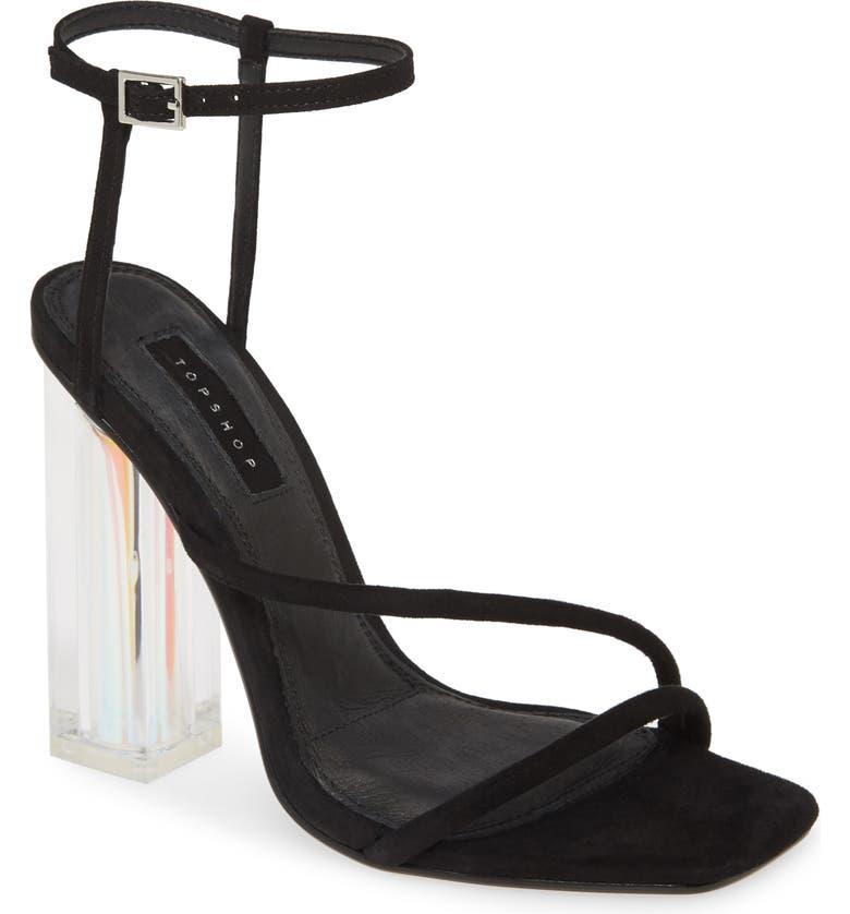TOPSHOP Rocket Ankle Strap Sandal, Main, color, 001