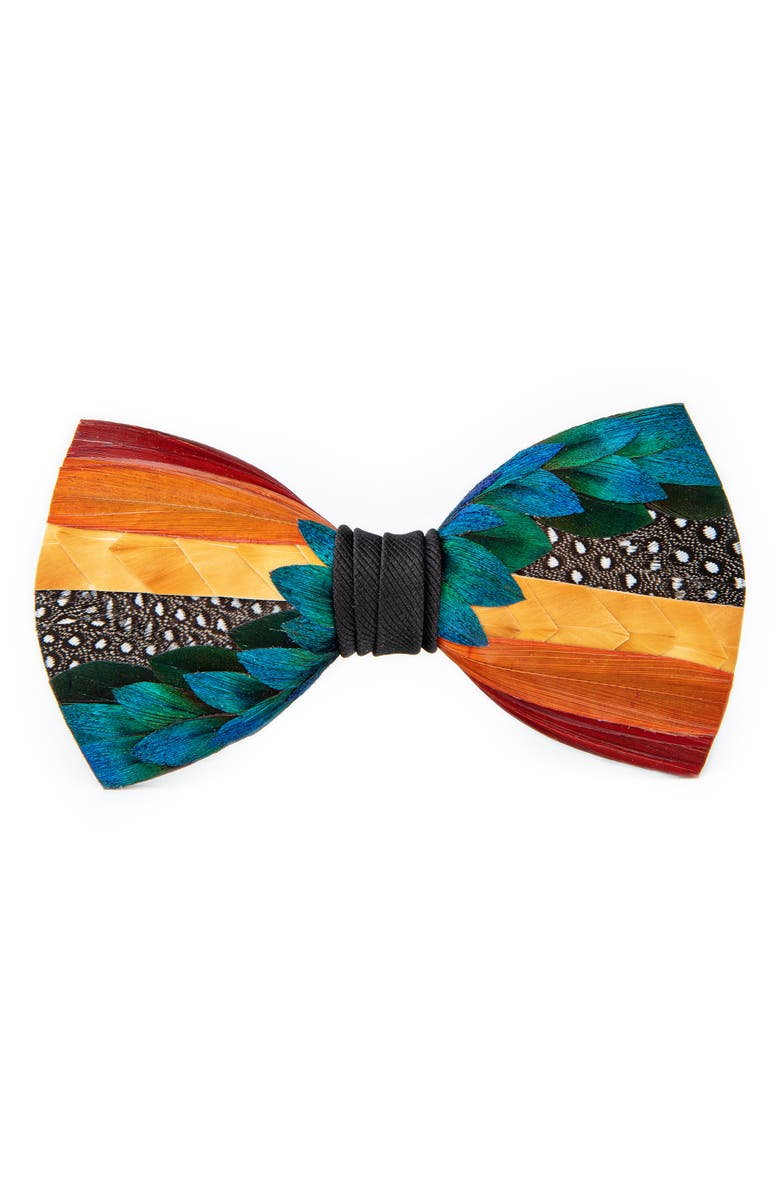 BRACKISH & BELL Bell Feather Bow Tie, Main, color, 800