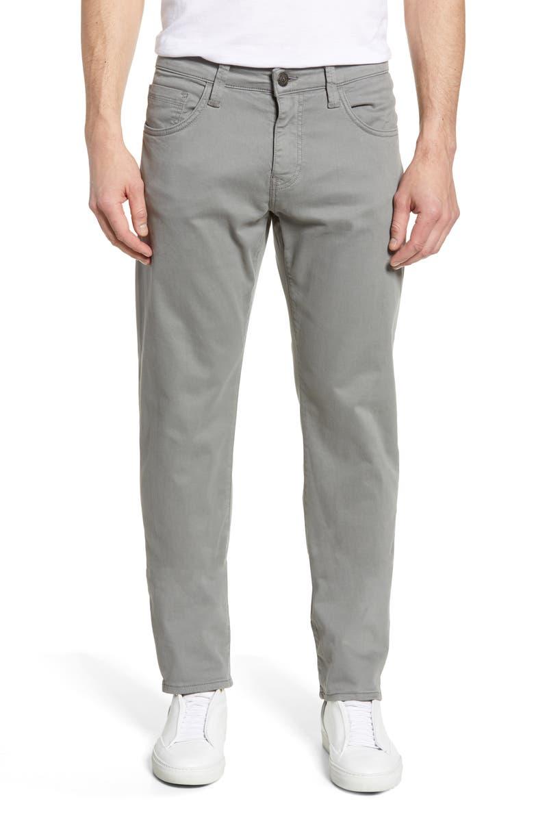 MAVI JEANS Zach Straight Leg Twill Pants, Main, color, GREY TWILL