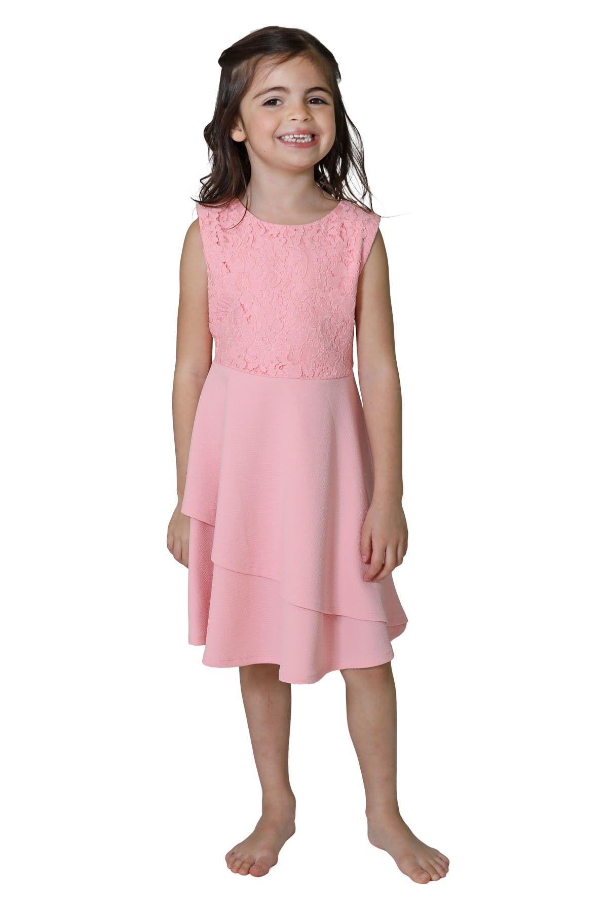 Image of Little Angels Lace Bodice Knit Dress