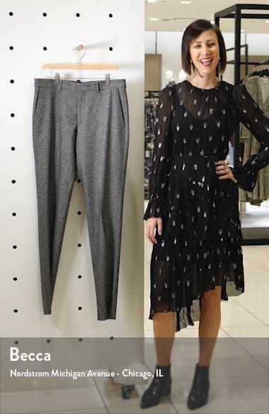 Giro Flat Front Tweed Stretch Wool Blend Dress Pants, sales video thumbnail