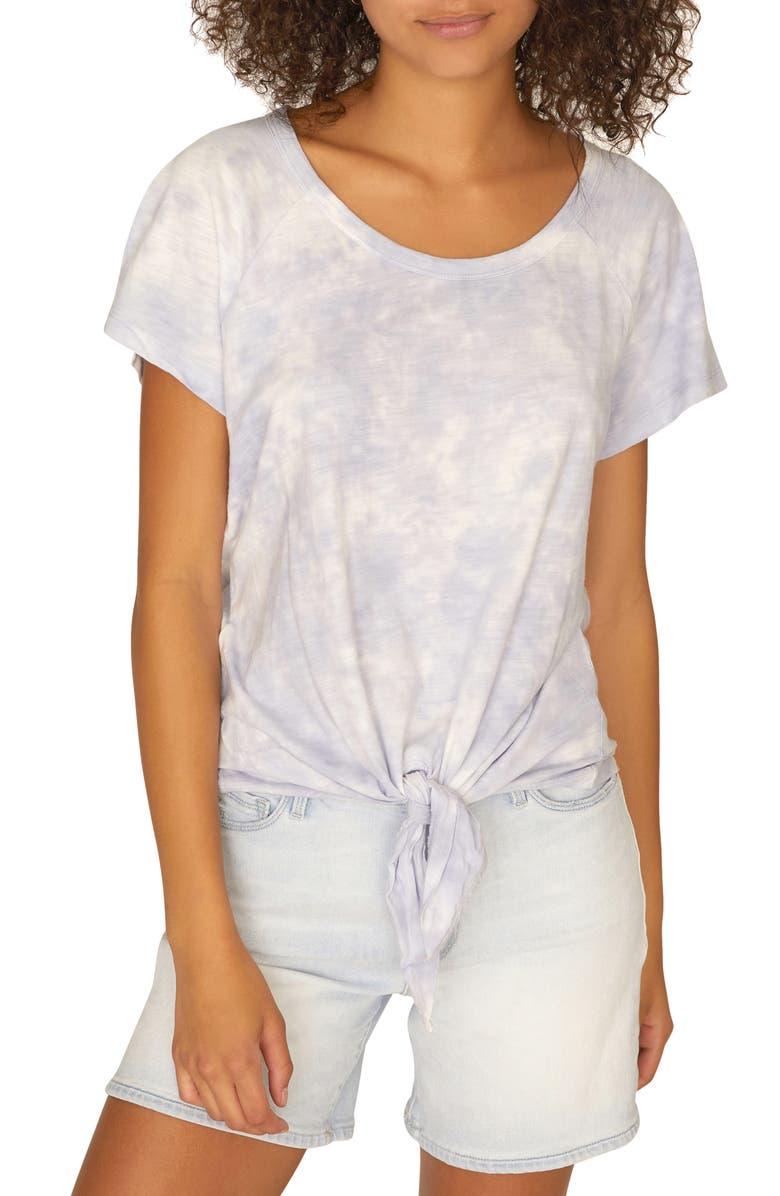 SANCTUARY Lou Tie Front Cotton Blend Top, Main, color, 531