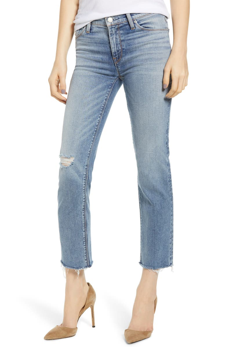 HUDSON JEANS Nico Straight Ankle Jeans, Main, color, OUTSHINE