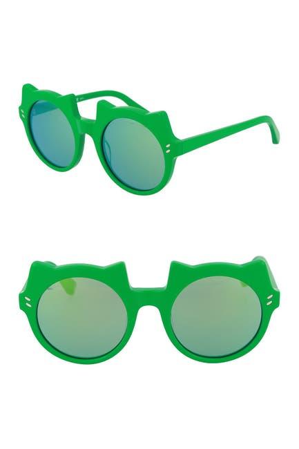 Image of Stella McCartney 48mm Irregular Round Sunglasses