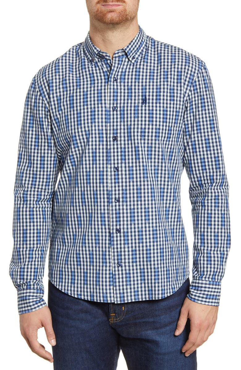 JOHNNIE-O Semmes Classic Fit Check Button-Down Shirt, Main, color, TWILIGHT