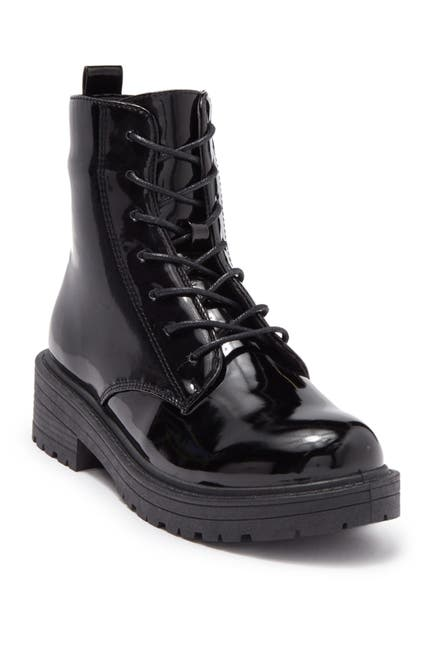 Image of Wanted Riot Pantent Lug Sole Boot