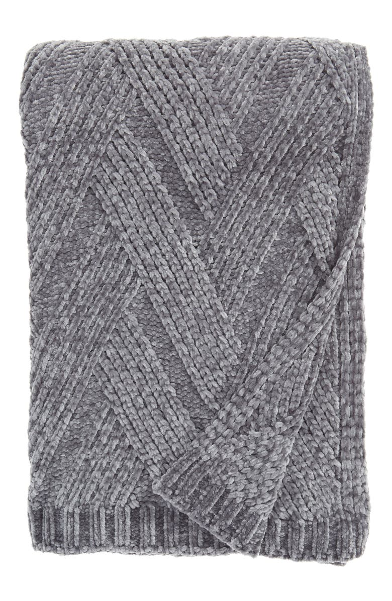 RACHEL PARCELL Chenille Throw Blanket, Main, color, 030