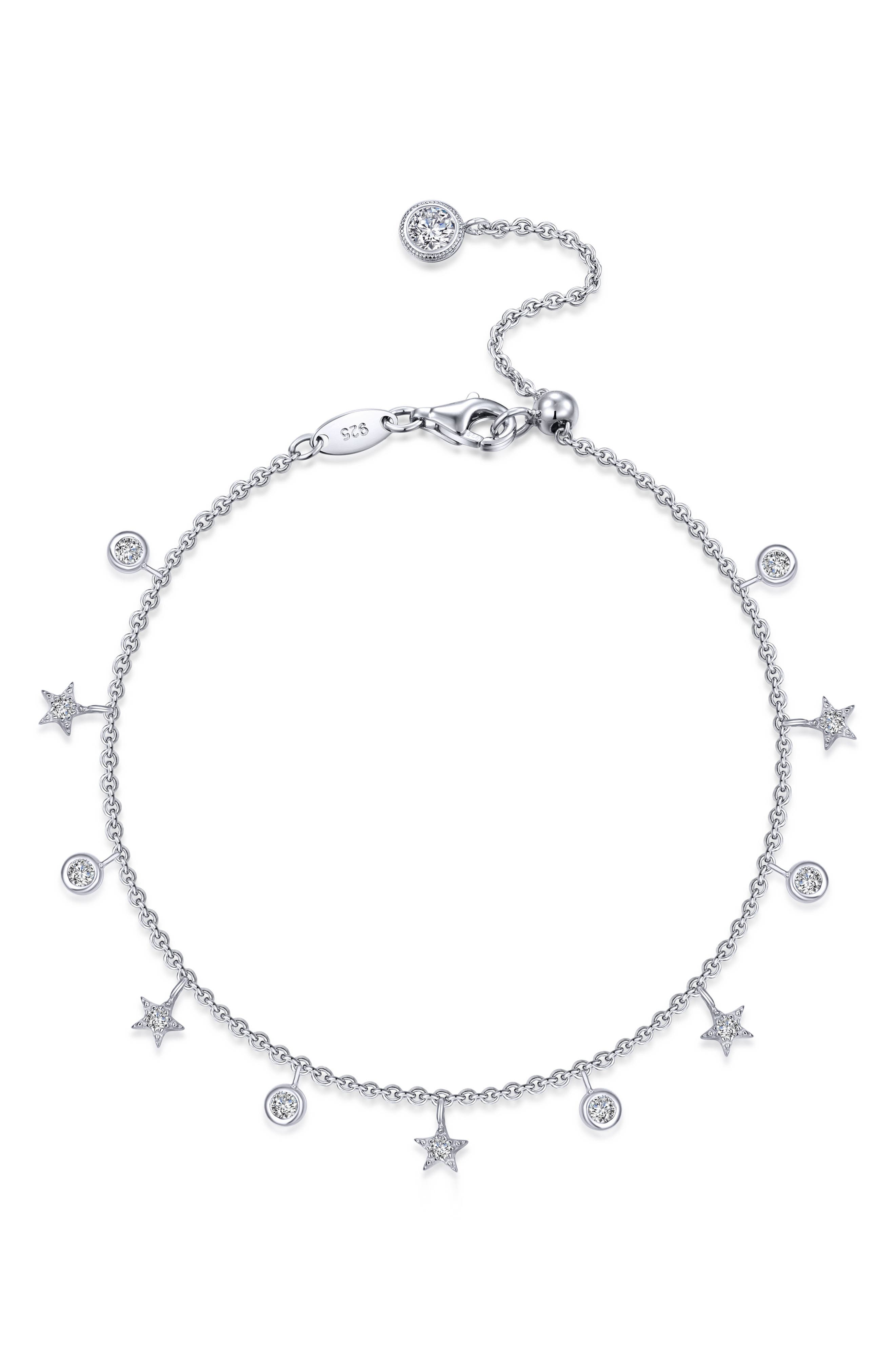 Starfall Simulated Diamond Charm Bracelet