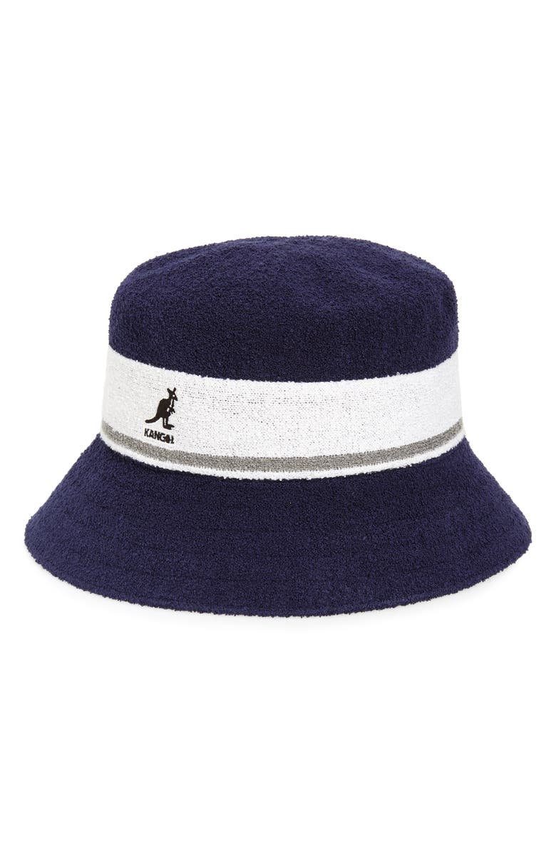 KANGOL Bermuda Stripe Bucket Hat, Main, color, 411