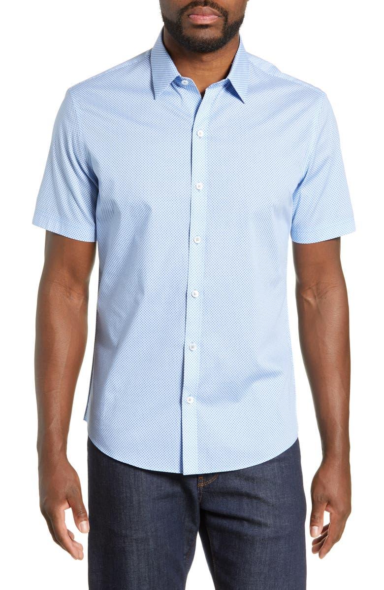 ZACHARY PRELL Rigby Regular Fit Print Shirt, Main, color, LIGHT BLUE