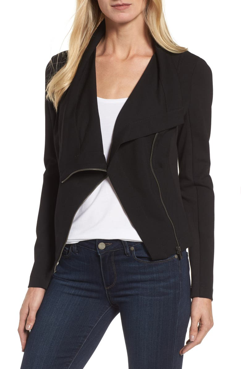 VINCE CAMUTO Two by Vince Camuto Ponte Moto Jacket, Main, color, 006