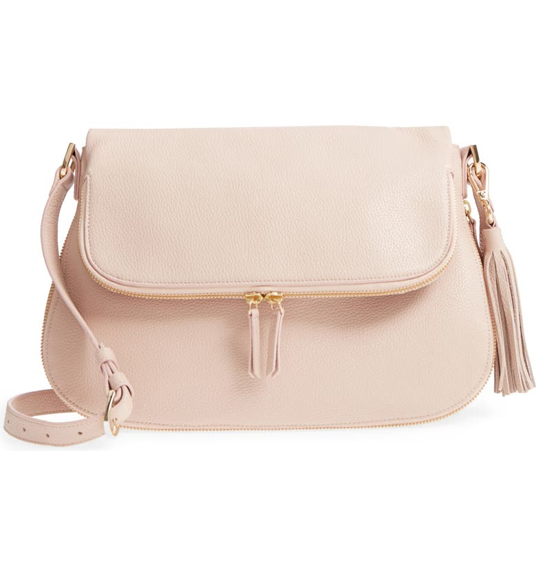 Kara Leather Expandable Crossbody Bag