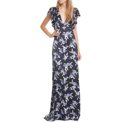 Veronica Beard Padma Stretch Silk Maxi Dress, Black