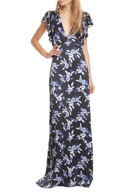 Veronica Beard Dresses PADMA STRETCH SILK MAXI DRESS