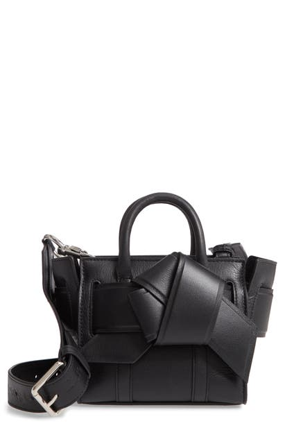Mulberry Bags & ACNE STUDIOS MICRO MUSUBI BAYSWATER LEATHER SATCHEL - BLACK