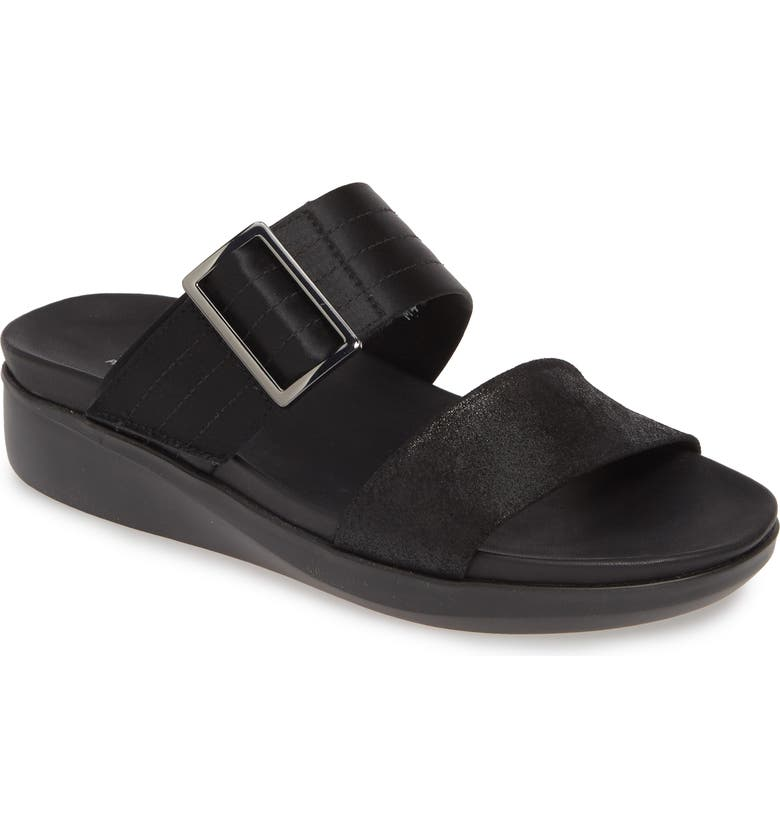 MUNRO Cameron Slide Sandal, Main, color, BLACK/ BLA
