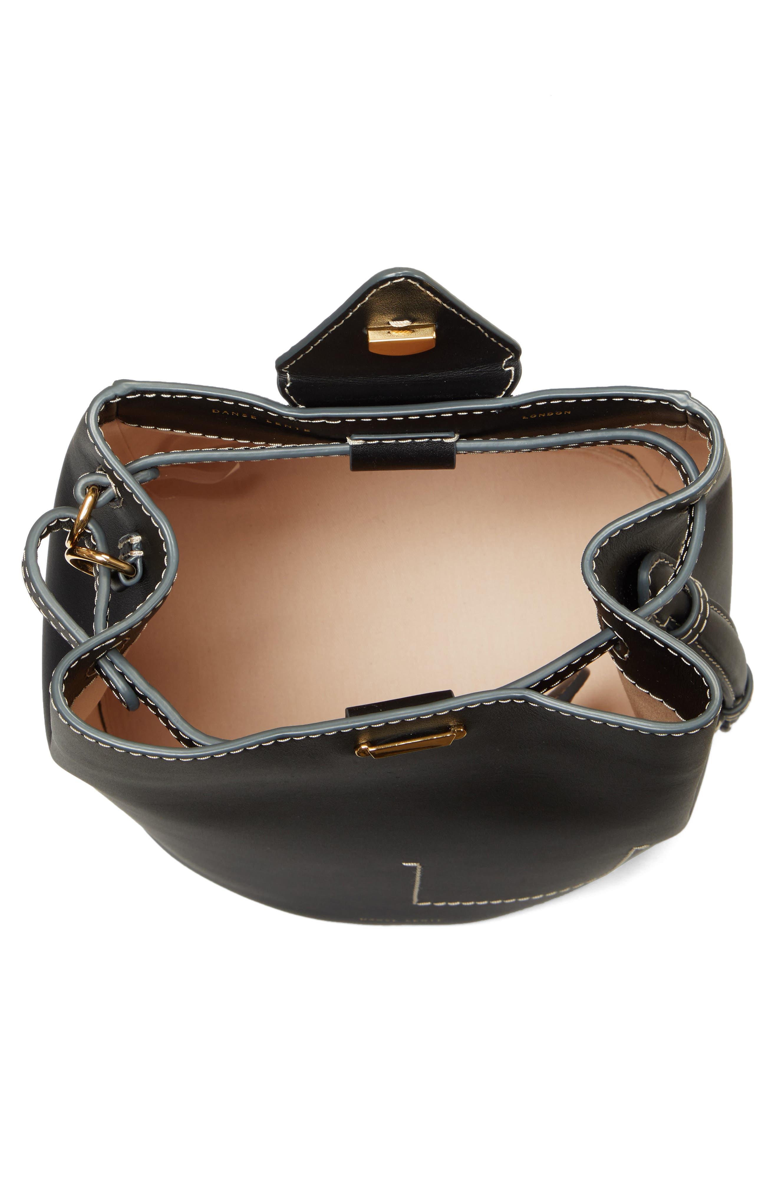 ,                             Jamie Leather Backpack,                             Alternate thumbnail 5, color,                             BLACK
