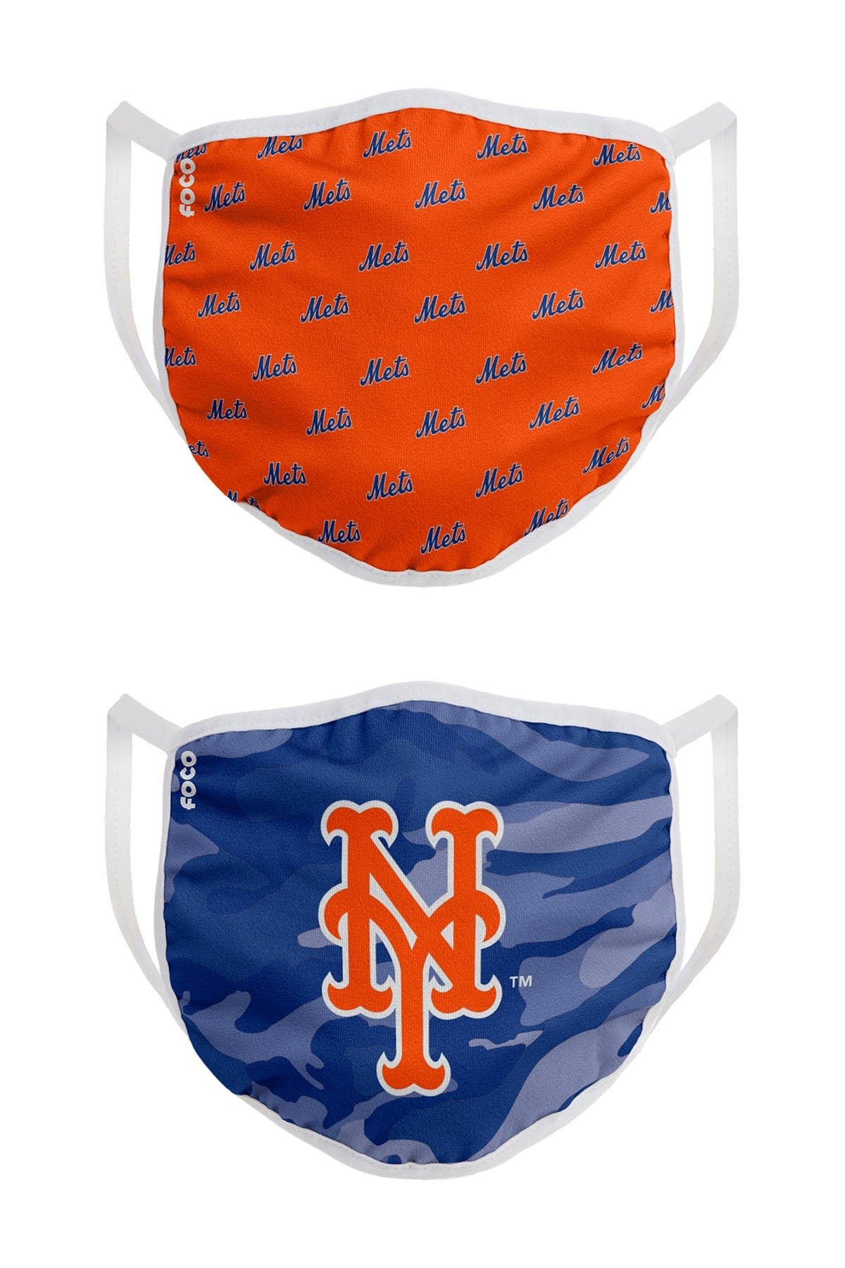 Image of FOCO MLB New York Mets Clutch Printed Face Cover - Pack of 2