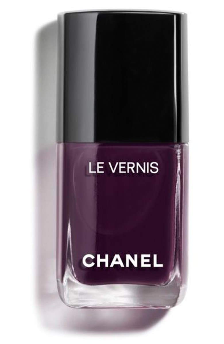 CHANEL LE VERNIS <br />Longwear Nail Colour, Main, color, 628 PRUNE DRAMATIQUE