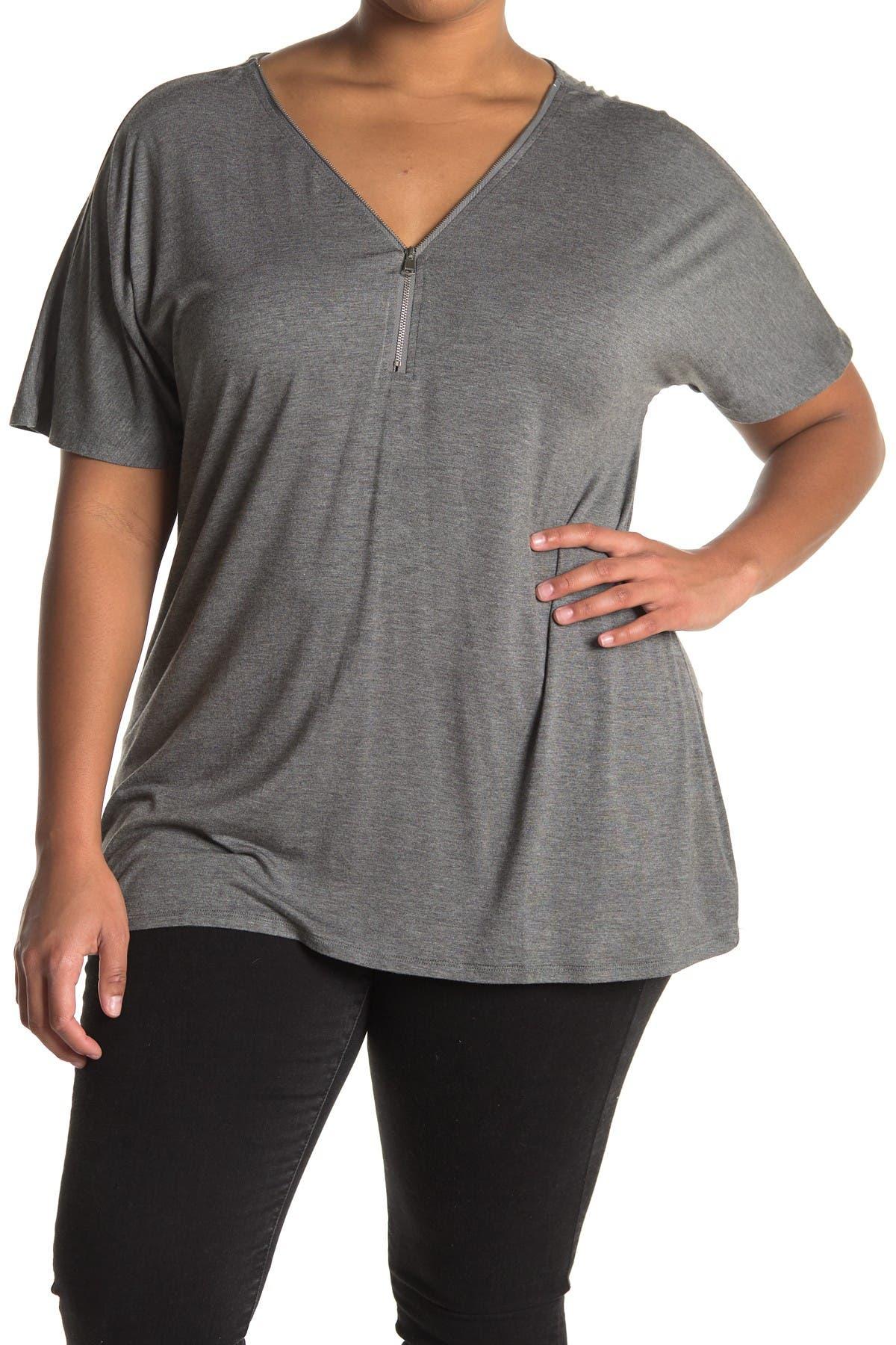 Image of Modern Designer Oversized Zip Neck Top