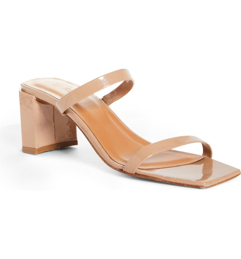 BY FAR Tanya Strappy Square Toe Sandal, Main, color, NUDE