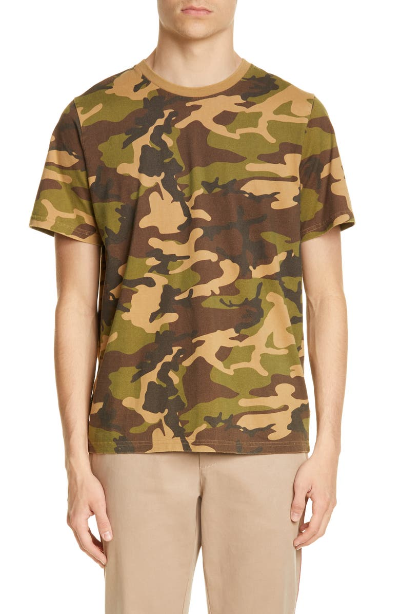 OVADIA & SONS Distressed Camo T-Shirt, Main, color, CAMO