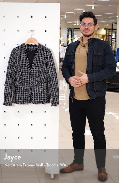 Open Front Tweed Jacket, sales video thumbnail