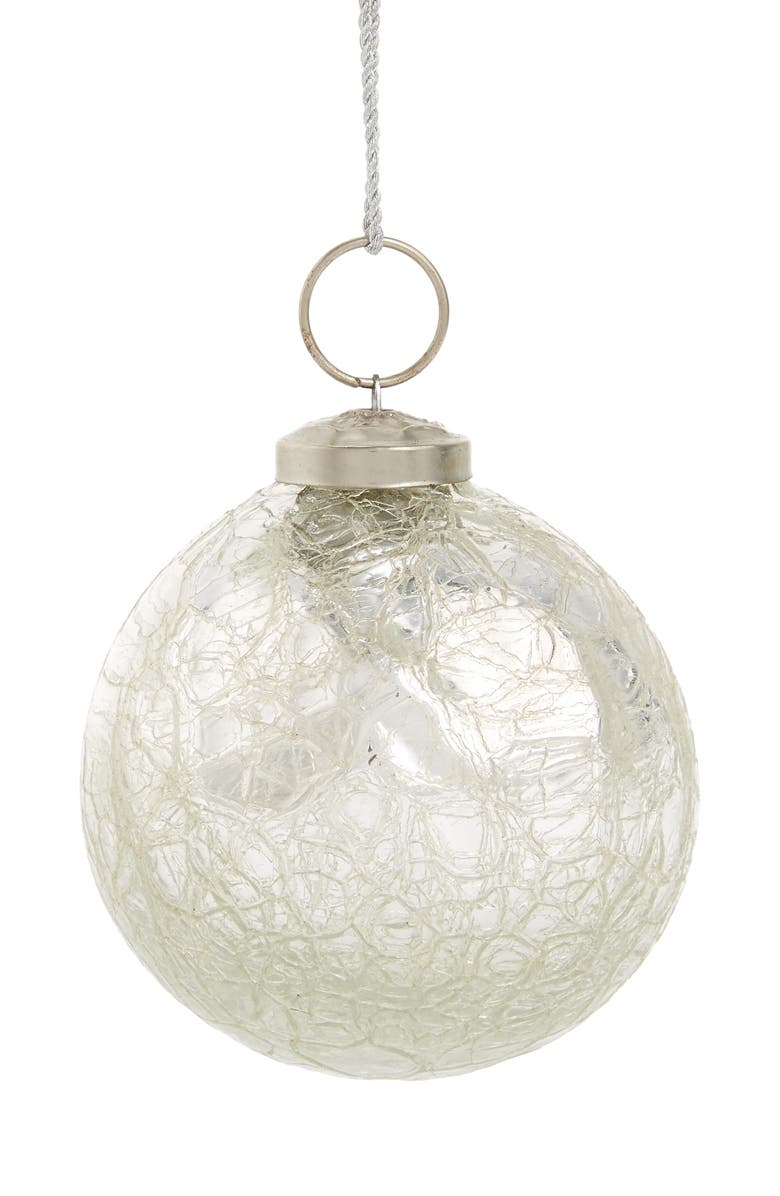 Arty Crackle Glass Ball Ornament Nordstrom