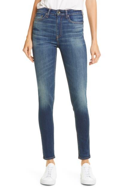 Rag & Bone Nina High Waist Ankle Skinny Jeans In Irving