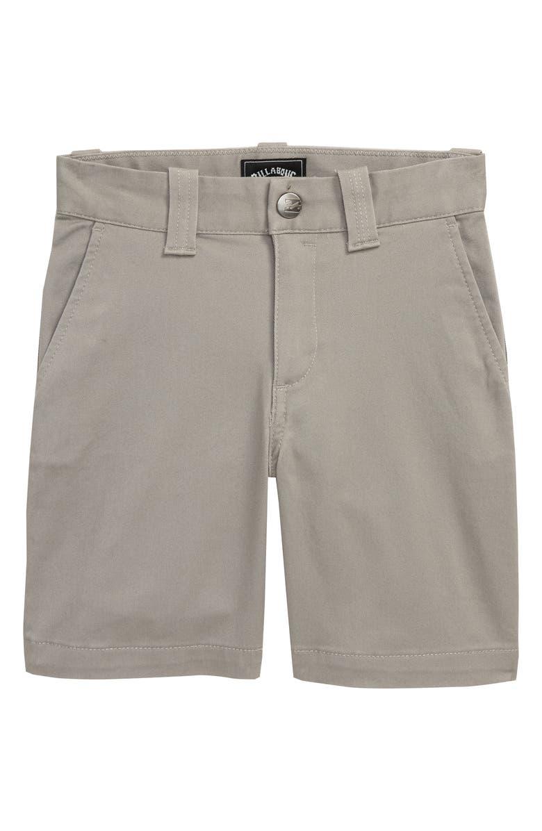 BILLABONG Carter Stretch Shorts, Main, color, GREY HEATHER