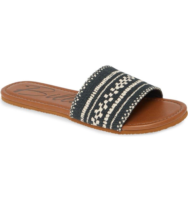 BILLABONG Deep Sea Slide Sandal, Main, color, BLACK WHITE