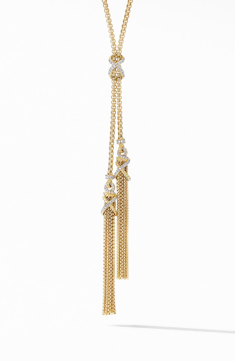 DAVID YURMAN Helena Pavé Diamond Tassel Necklace, Main, color, DIAMOND