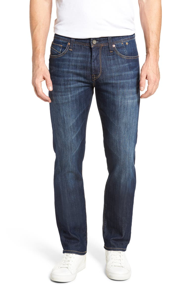 MAVI JEANS Zach Straight Leg Jeans, Main, color, DARK MAUI