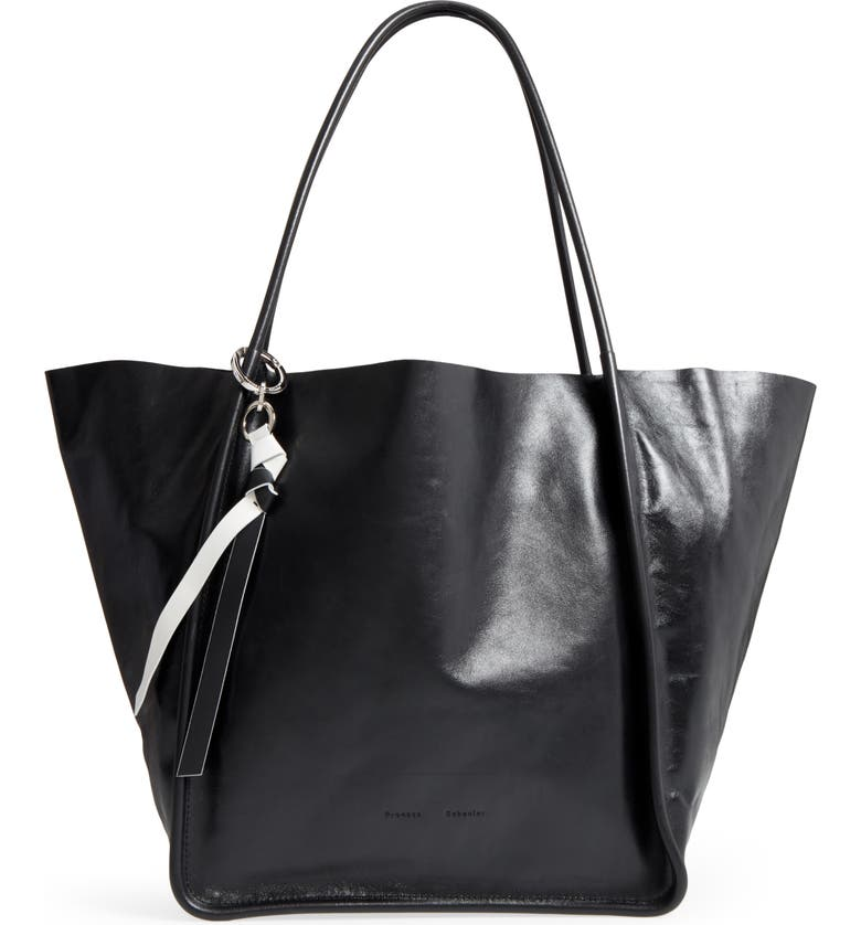 PROENZA SCHOULER Extra Large Leather Tote, Main, color, 001