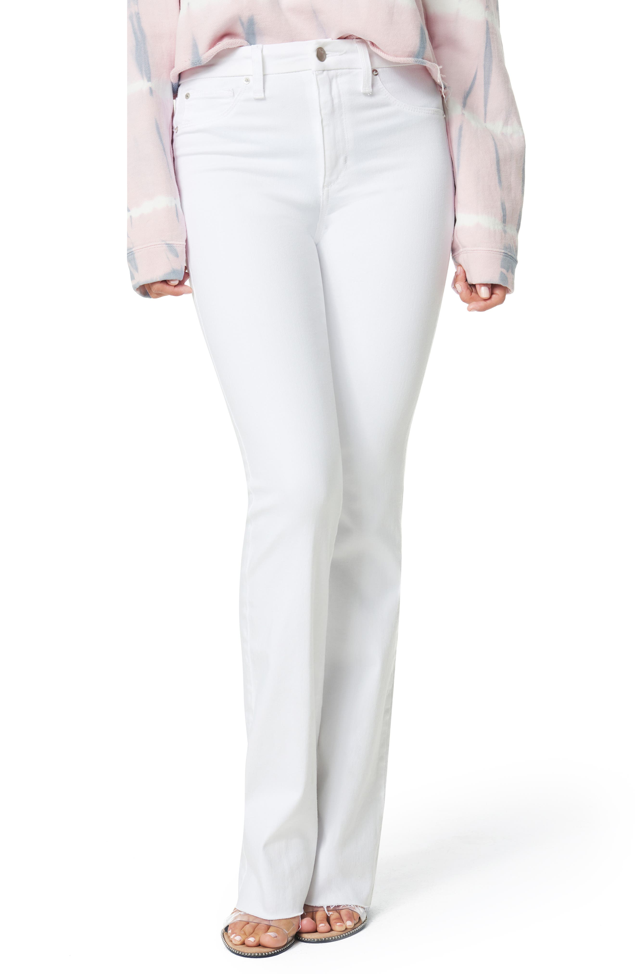 Women's Joe's The Hi Rise Honey High Waist Cut Hem Curvy Bootcut Jeans,  25 - White