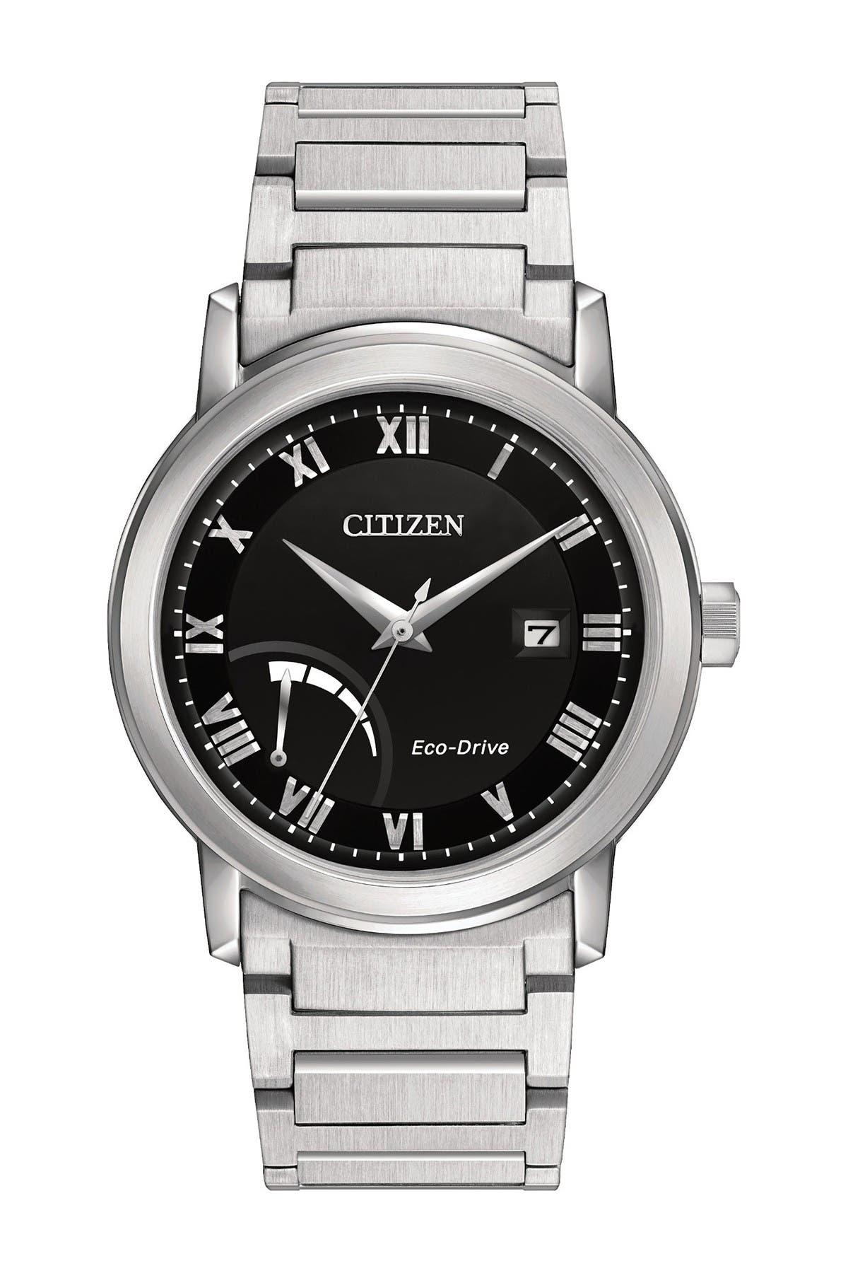 Image of Citizen Men's Eco-Drive Power Reserve Silvertone Watch, 43mm