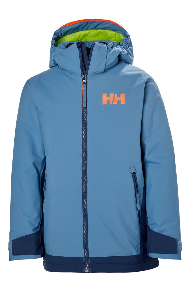 HELLY HANSEN Hillside Waterproof Insulated Ski Jacket, Main, color, BLUE FOG
