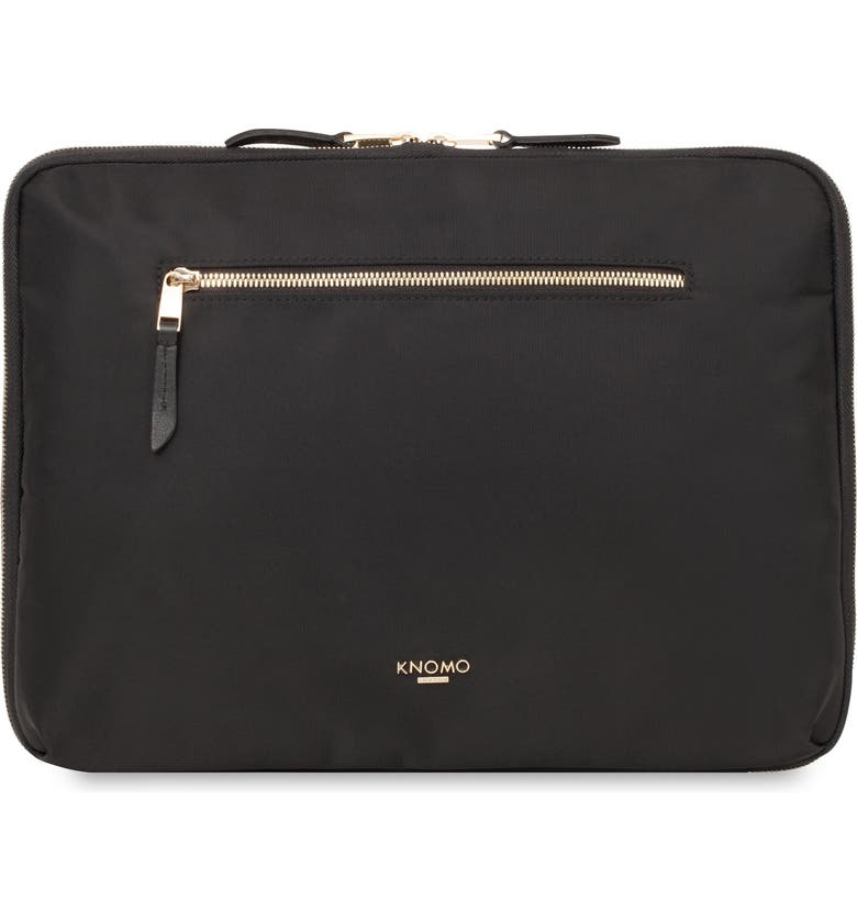 KNOMO LONDON Mayfair 12-Inch Portfolio, Main, color, BLACK
