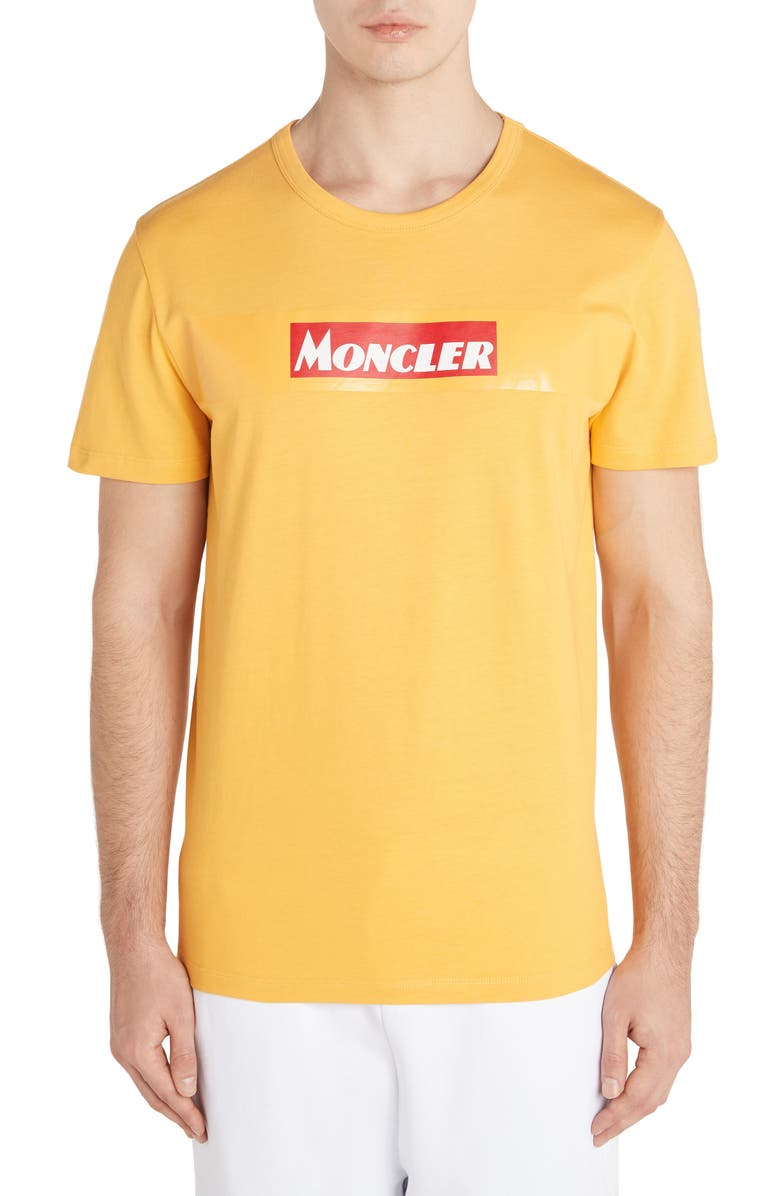 MONCLER Box Logo T-Shirt, Main, color, YELLOW
