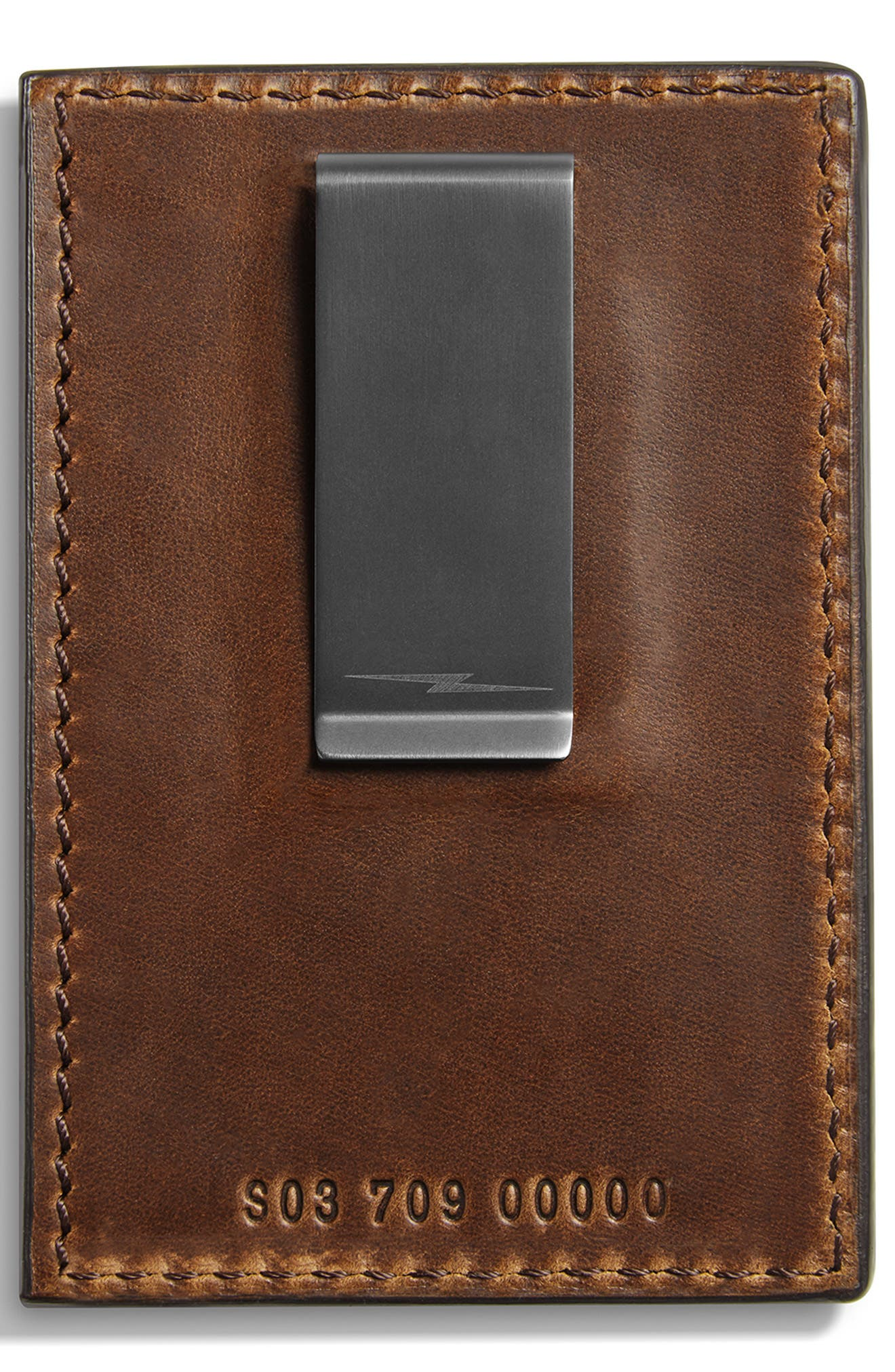 ,                             Navigator Leather Money Clip Card Case,                             Alternate thumbnail 2, color,                             MEDIUM BROWN